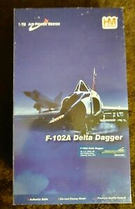 1/72 Hobby Master # HA3104, F-102A Delta Dagger. Minor Shelf Wear on outer box.