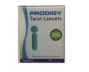 Prodigy® Twist Top 28g Lancets, Box of 100, mfr # 24-081028, Expire 09/22/2024