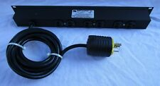 SL Waber Power Tap 911CB-15 15A 125V 60Hz 1U 6 Outlets Mounting Ears 15' Power