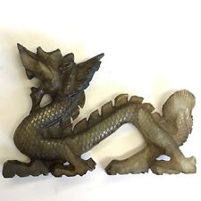 Tallada China Vintage hardstone Dragon 9cm X 6.5cm