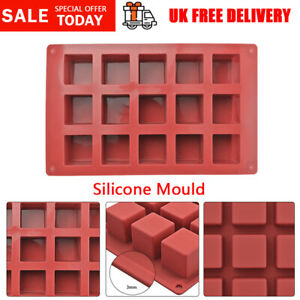Square Silicone Chocolate Moulds Mousse Cake Ice Candy Pastry Decor Baking Mould