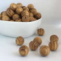 16mm Natural Unpainted Round Wooden Beads 20X Burly Wood Bead Macrame Craft