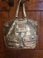 COACH LIMITED EDITION SEQUIN POPPY XL SPOTLIGHT TOTE - EUC