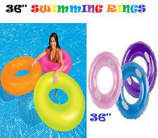 36'' Beach Swimming Pool Aid Inflatable Swim Ring Tube Tyre Toys Floater Ring