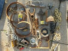 INDUSTRIAL STEAMPUNK LAMP PARTS iron gear machine age sprocket VINTAGE lot 6