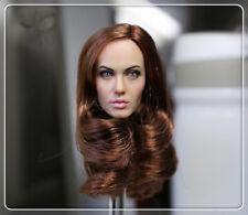 USA CGL TOYS 1/6 Angelina Female Figure Head Hair Model Fit Woman Tan Body  T-10
