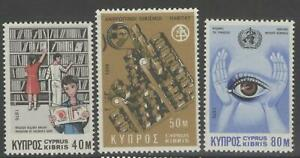 CYPRUS SG475/7 1976 ANNIVERSARIES AND EVENTS MNH