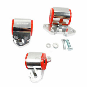 Motor Mount Set Billet Aluminum For Acura Integra 94-01 & 92-95 Civic B&D Engine