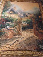 "Thomas Kinkade "" Sisterly Love"" Tapestry Throw Blanket @ 66 X 46 In."