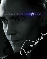 TOM HIDDLESTON - LOKI - AVENGERS SIGNED AUTOGRAPHED A4 PP PHOTO POSTER