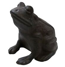 statue sculpture grenouille animaux decoration de jardin en fonte marron