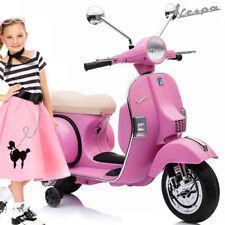 Bakaji Vespa Px 150 Per Bambini 12V Colore Rosa Sellino Beige Ufficiale Piaggio