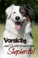 Australian Shepherd - A4 Alu Warnschild Hundeschild Schild Türschild ASD 15 T38
