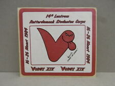 Sticker - Decal Studenten Corps Rotterdam 1984 with org.back 80's (02579)