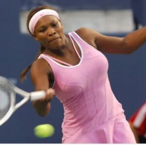 Nike Serena Williams Pink Tennis Dress Crystal Straps Size Large