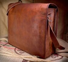 Coach Leather Bag Vintage Genuine Leather Laptop Messenger Bag For Men and Women
