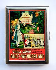 Alice in Wonderland Cigarette Case Wallet Business Card Holder Humpty Dumpty