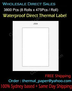 Water Proof Label 59x80mm Direct Thermal Label