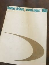 Frontier Airlines 1963 annual report
