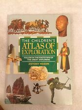The Children's Atlas of Exploration~Mason~1993~Hardcover~90+ Pages~Free US Ship