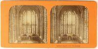 Sainte Cappella Parigi Francia Foto Stereo PL54L3n Diorama Vintage Albumina