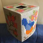 Handmade Plastic Canvas Tissue Box Cover SONGBIRD Topper Boutique NEW Gift Idea