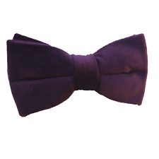 Handmade Dark Purple Velvet Bow tie Mens bowties for Wedding