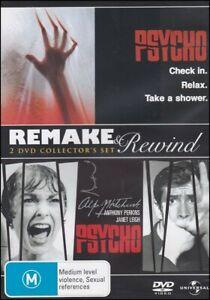 PSYCHO Remake & Rewind HORROR Alfred Hitchcock Gus Van Sant THRILLER (2 DVD SET)
