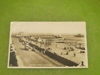 1930s Real photo Sussex postcard - old bus & car - Marine parade Worthing