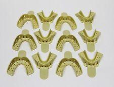 Dental Plastic Disposable Impression Trays Perforated Autoclavable Lm 4 12 Pcs