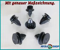 15x KUNSTSTOFF KLIPS BEFESTIGUNGSCLIPS FÜR BMW MINI COOPER CLIPS 07131480419 NEU
