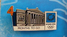 COUNTDOWN 4 MONTHS TO GO (ENGLISH)- ATHENS 2004 OLYMPIC GAMES PIN