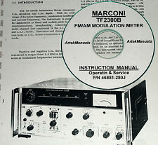 Marconi TF2300B FM/AM Modulation Meter, Operating & Service Manual (Schematics)
