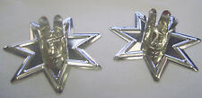"A Pair of Silver Fairy Star Chime Candle Holders for 4"" Candles Pagan Wicca (2)"