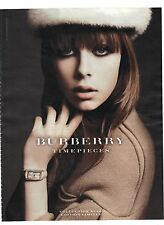 PUBLICITE ADVERTISING 2011  BURBERRY montre timepieces