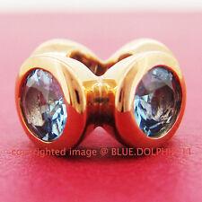Genuine Solid 9k Rose Gold Natural Topaz  Bead Charm European Bracelet Necklace