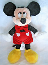 """New listing Disney Mickey Mouse Plush Hearts Bow Tie Kiss Magnetic Cheek 11"""" Soft Bean Toy"""