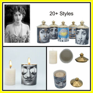 Fornasetti Style Candle Holder Lina Face Vintage Ceramic Art Storage Home Decor