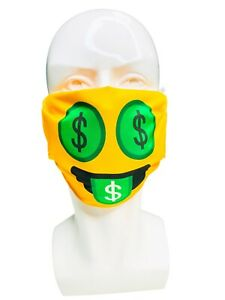 Emoji Face Mask- Money