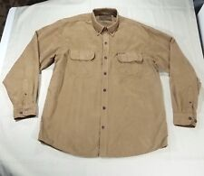 Clearwater Outfitters Outdoors Long Sleeve Jacket Shirt Sueded Mens L Brown