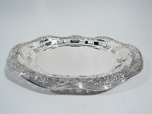 Tiffany Tray - 9826 - Antique Victorian Platter - American Sterling Silver
