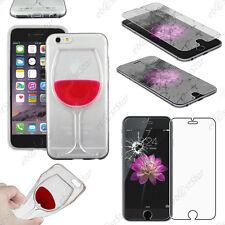 """Coque transparente Vin Transparent / Rouge Apple iPhone 6 4,7"""" Verre"""