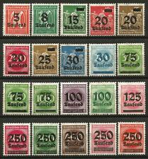 Germany (Weimar Rep.) MNH/MH 1923 - Set High Inflation O/P New Values Mi-277-296