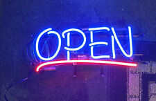 New Horizontal Neon Open Sign Light Open Restaurant Business Bar 24�x12� Bright