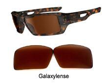 Galaxie PRIZM Technologie verres de rechange pour Oakley Cache 1&2 marron