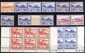 WW2 GERMAN OCCUPATION ISSUES: JERSEY 1941-4 HINGED MINT SELECTION, 38 STAMPS