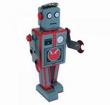 Roboter Radiocon grau Blechspielzeug