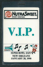 Super Bowl XXIV NutraSweet Guest Pass New Orleans Superdome 49'ers vs Broncos