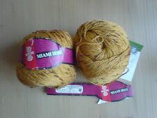 Schewe Wolle Strickgarn MIAMI IRISE 100 gr 2 Knäuel Mako-Baumwolle hellbraun rar