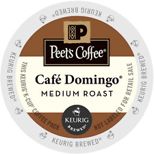 Peet's Coffee Cafe Domingo Coffee 22 to 132 Keurig Kcups Pick Any Size FREE SHIP